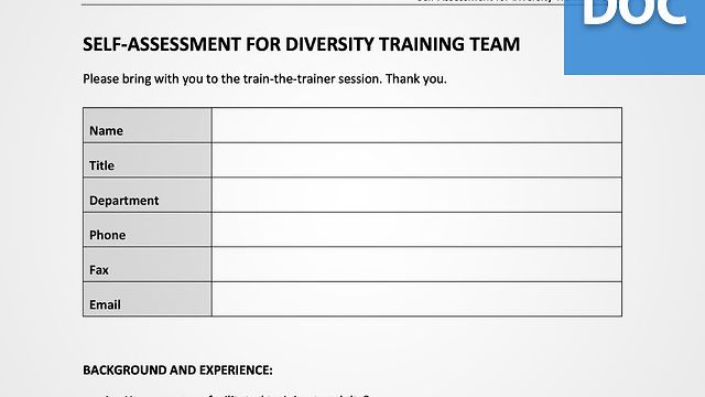 Diversity Trainer Assessment