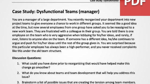 Dysfunctional Teams