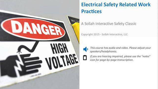 Electrical Safety-Related Work Practices™