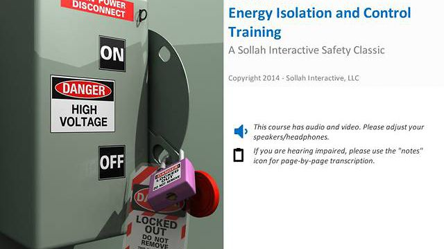 Energy Isolation & Control™ (Lock Out/Tag Out)