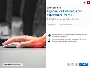 Ergonomics Awareness For Supervisors™ - Part 1