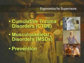 Ergonomics for Supervisors™