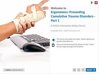 Ergonomics Preventing Cumulative Trauma Disorders™ - Part 1