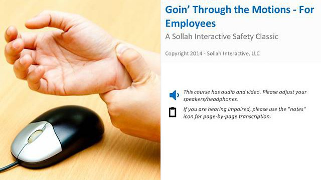 Goin' Through the Motions™ (For Employees) - Safety Classic