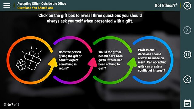 Got Ethics?® Accepting Gifts - Outside the Office