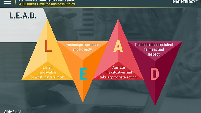 Got Ethics?® No Time for Training (for Managers)