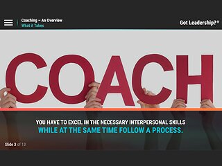 Got Leadership?™ Coaching - An Overview