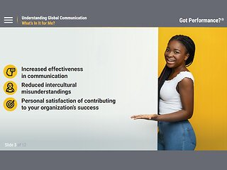 Got Performance?® Understanding Global Communication