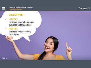 Got Sales?™ Customer Business Understanding
