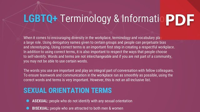 Info Brief: LGBTQ+ Terminology & Information