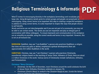 Info Brief: Religious Terminlogy & Information