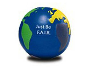 Just Be F.A.I.R. - Globe Stress Balls (10-pk)
