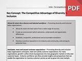 Key Concept: The Competitive Advantage of Diversity & Inclusion