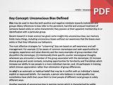 Key Concept: Unconscious Bias Defined