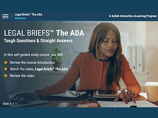 Legal Briefs™ The Americans with Disabilities Act: Tough Questions & Straight Answers