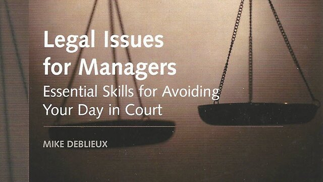 Legal Issues for Managers (How-To Book)