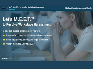 Let's M.E.E.T.™ to Resolve Workplace Harassment (eLearning Classic)