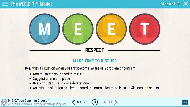 M.E.E.T. on Common Ground™: An Advantage eLearning Course