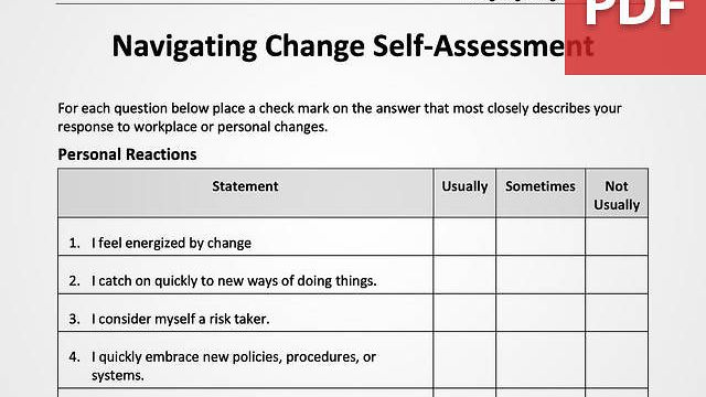 Navigating Change Self-Assessment
