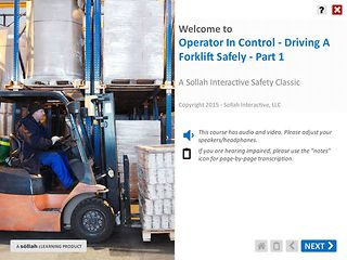Operator In Control – Driving A Forklift Safely™ - Part 1