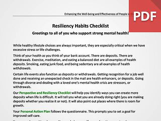 Perspective & Resiliency Checklist