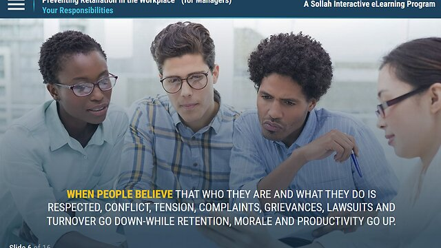 Preventing Retaliation in the Workplace: Recognize. Respond. Resolve.™ (Manager Version)
