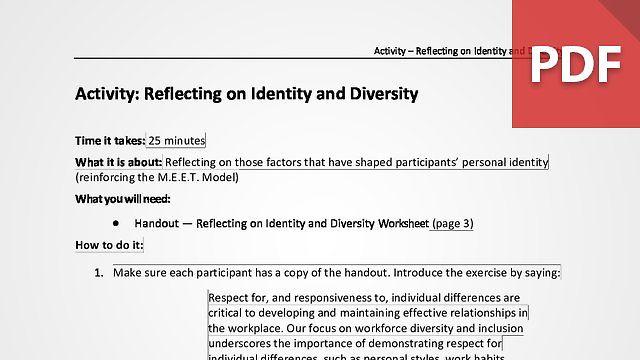 Reflecting on Identity and Diversity
