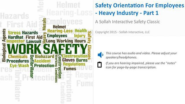 Safety Orientation for Employees - Heavy Industry™ - Part 1