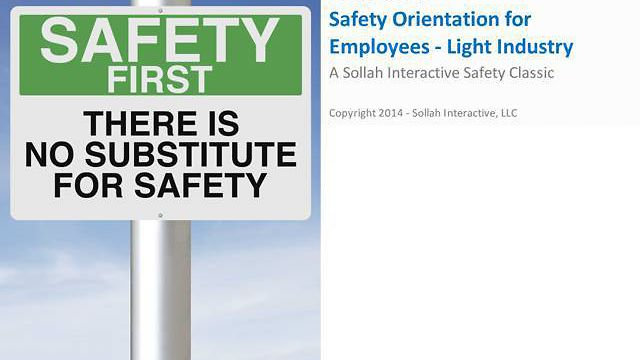 Safety Orientation for Employees™ - Light Industry