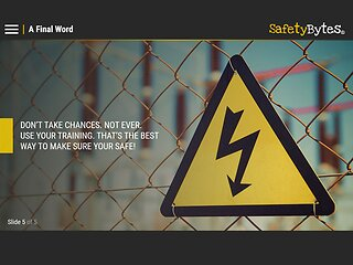 SafetyBytes® - Electrical Safety (Ignoring Signs & Warnings)