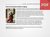 Team Spark: Check Assumptions Before Judging