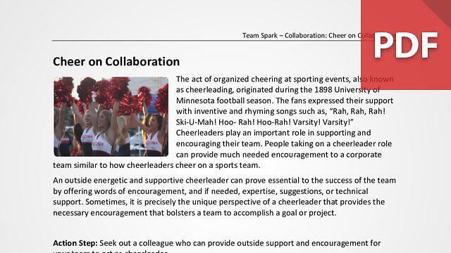 Team Spark: Cheer on Collaboration