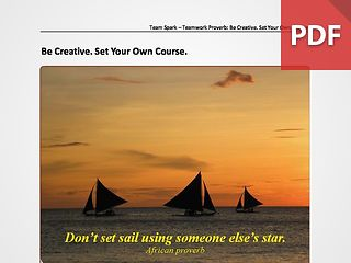 Team Spark: Proverb - Be Creative
