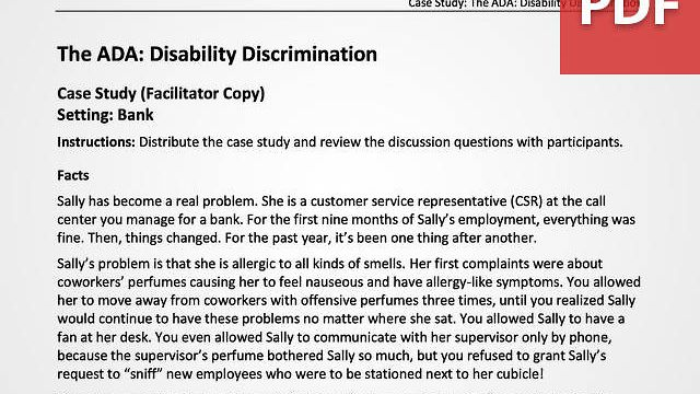 The ADA and Disability Discrimination