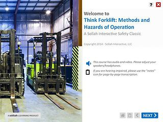 Think Forklift: Methods and Hazards of Operation™ - Safety Classic