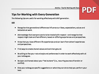 Tips for Working with Every Generation