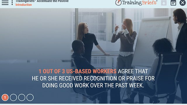 TrainingBriefs® Accentuate the Positive