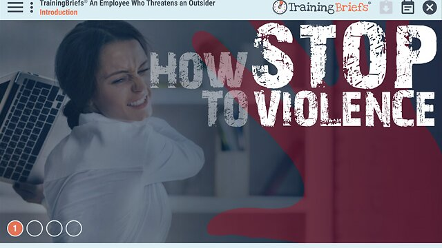 TrainingBriefs® An Employee Who Threatens an Outsider