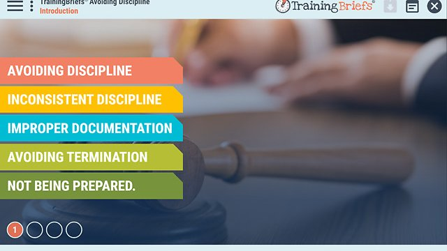 TrainingBriefs® Avoiding Discipline