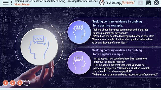 TrainingBriefs® Behavior-Based Interviewing – Seeking Contrary Evidence