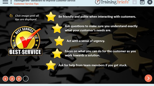 TrainingBriefs® Behaviors to Improve Customer Service