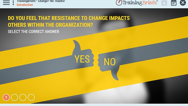 TrainingBriefs® Change? No Thanks!