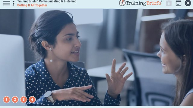 TrainingBriefs® Communicating & Listening
