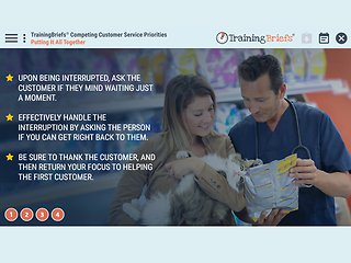 TrainingBriefs® Competing Customer Service Priorities