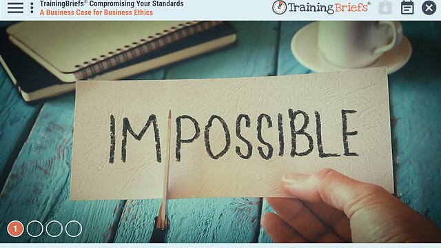 TrainingBriefs® Compromising Your Standards