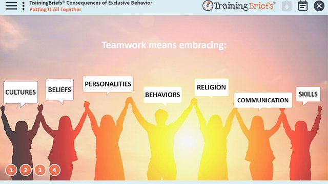 TrainingBriefs® Consequences of Exclusive Behavior