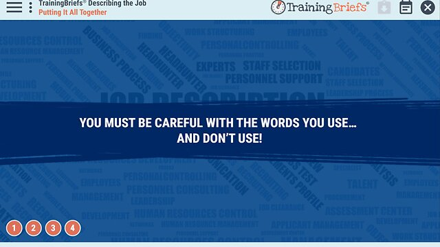 TrainingBriefs® Describing the Job