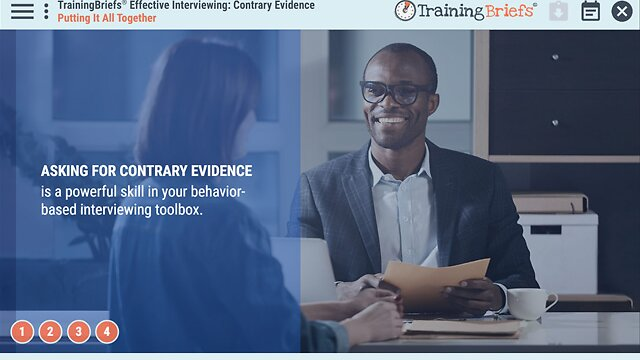 TrainingBriefs™ Effective Interviewing: Contrary Evidence