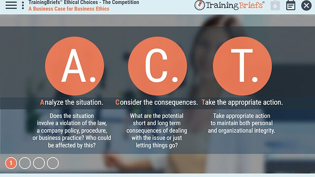 TrainingBriefs® Ethical Choices - The Competition