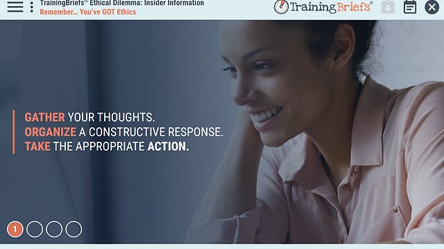 TrainingBriefs™ Ethical Dilemma - Insider Information